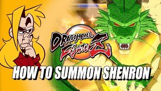 HOW TO SUMMON/ACTIVATE SHENRON: DragonBall FighterZ