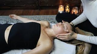 ASMR  relaxing massage for sleep + reiki (whisper & soft spoken)