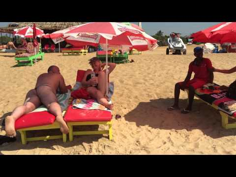 Candolim beach goa India (surprise hairy arse massage)