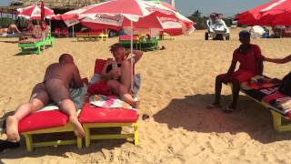 Candolim beach goa India (surprise hairy arse massage)