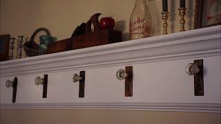 Antique Door Knob Coat Rack Build