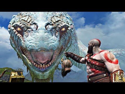 God of War 4 ALL World Serpent GIANT SNAKE Cutscenes God of War 2018 PS4 Pro