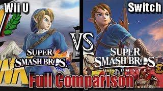 Super Smash Bros. Ultimate - Graphics Comparison (Switch Vs Wii U) (Final Smash + Brawl)