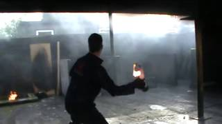 Petrol bomb demonstration