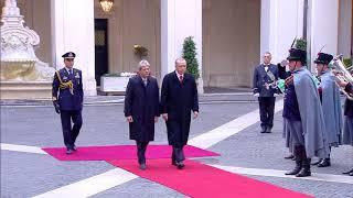 Gentiloni riceve il Presidente turco Erdogan