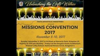 Mission Convention 2017 - Nov 05, 2017 [Sunday Morning] Speaker: Pastor Wayne Williams