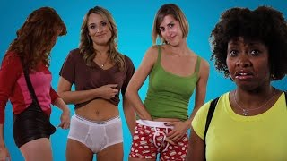 Girls Try on Guys' Sexy Underwear For The First Time