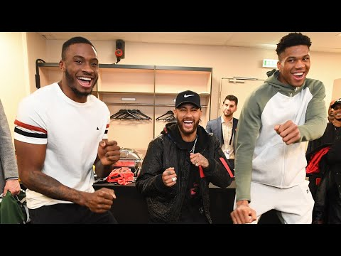 All Access Bucks Meet Neymar & Mbappe Teddy Riner Pregame WWE NBA Paris Game 2020 Part 2