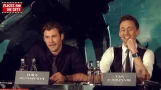 Tom Hiddleston & Chris Hemsworth on Bromance between Thor & Loki in Thor The Dark World