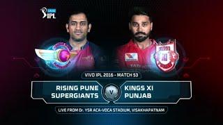 RPS vs KXIP Match 53 Highlights 2016