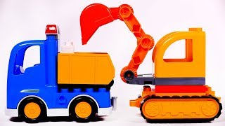 Dump Truck and Excavator Lego Duplo Playset Toys for Children Learn Colors