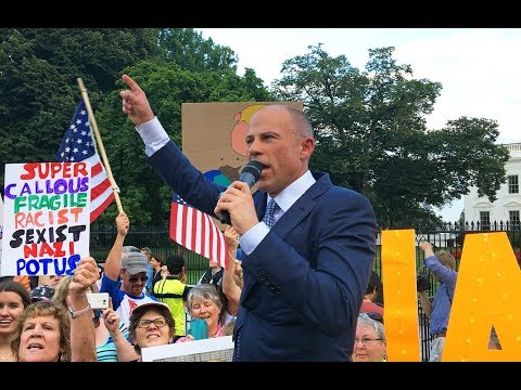 Xxx Mp4 Michael Avenatti Protests Trump At The White House July 17 2018 3gp Sex