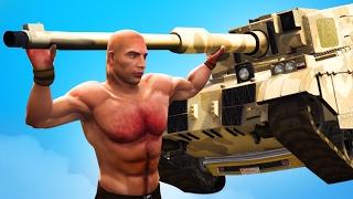 SUPER HUMAN vs. TANK! (GTA 5 Funny Moments)