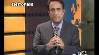 Emilio Fede commenta con la voce rotta dall'emozione la vittoria di Berlusconi alle politiche del 94