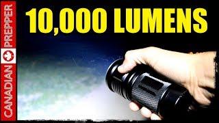 Portable Powerhouse: 10,000 Lumen Flashlight- Thrunite 2017/ Olight comparison