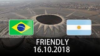 Brazil vs Argentina - International Friendly - PES 2019