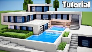 Minecraft: How to Build a Large Modern House Tutorial (#2)