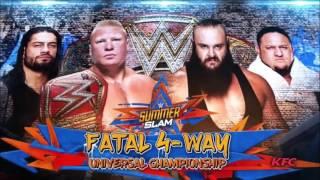 WWE SummerSlam 2017: Fatal 4-Way - Official Match Card