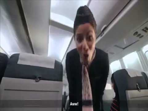 Funny Flight Attendant - Fuck you!