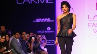 Priyanka Chopra walks for Lakme Fashion Week 2013