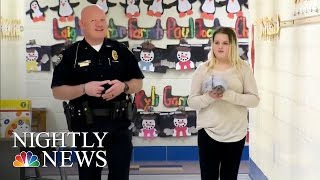 Inspiring America: Cop Helps Fifth-Grader With Math Homework | NBC Nightly News