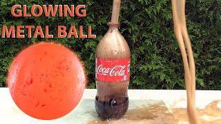 EXPERIMENT GLOWING 1000 DEGREE METAL BALL VS COCA COLA