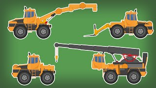 Transformer   Fork Lift   Crane   Handler   Kids Video