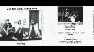 VAN DER GRAAF GENERATOR - Live In Novara, 31.5.1972.