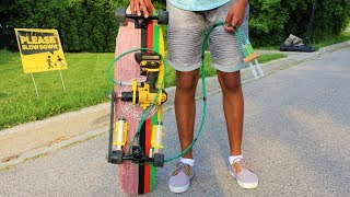 How To Make A Drill Powered Skateboard - Simple and Cheap