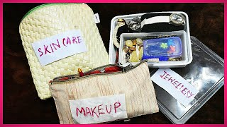 My Traveling Makeup and Jewellery Kit | Travel Makeup Organisation | Glam With Me