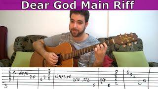 Tutorial: Dear God main riff (Avenged Sevenfold) - Guitar Lesson w/ TAB