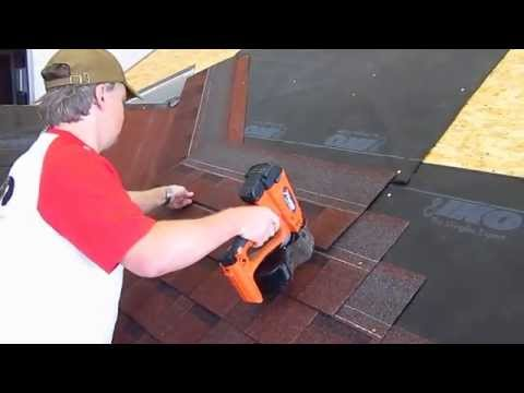 Roof valley coverage Californian method IKO laminated roof shingles