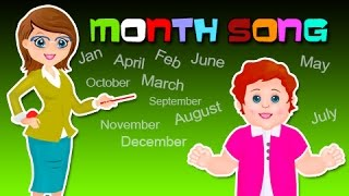 Months song | Months of the year song | Nursery Rhymes | Month song for kids | kids club rhymes