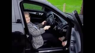 Grandma Revving C63 AMG - FUNNY!!!