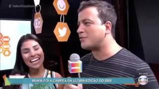 Mau Mau (BBB11), Munik (BBB16) e Rafael Cortez no Vídeo Show / Rede BBB