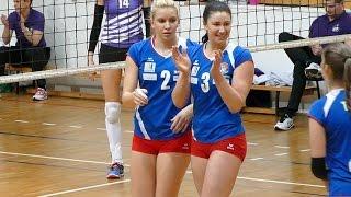 Volleyball Girls Amazing Block Close Up