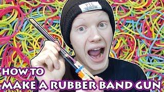 DIY RUBBER BAND GUN - HOW TO MAKE A RUBBER BAND GUN (SUPER CHEAP)