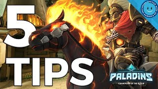 Top 5 Tips To Be A Better Frontline (Tank) In Paladins!