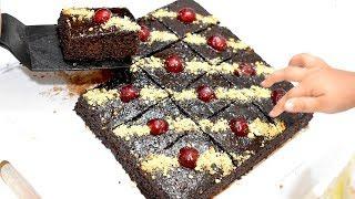 صدقوني 😋 أروع وألذ وأحلى بسبوسة مسقية بالشوكولا 😋  لذيذة جداا جدااا جداااا