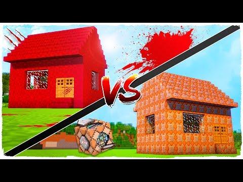 👉 Casa de SANGRE vs casa de COMMAND BLOCKS - MINECRAFT