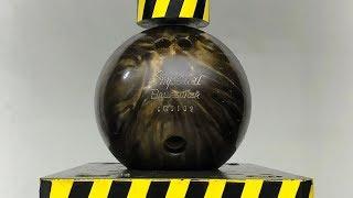 EXPERIMENT HYDRAULIC PRESS 100 TON vs Bowling Ball