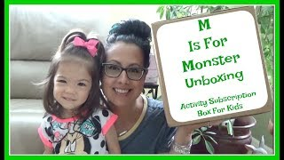 M Is For Monster Unboxing | Activities For Kids Subscription Box