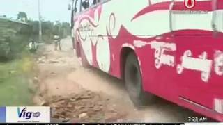 Rajshahi city roads in dilapidated condition (23-10-2017)