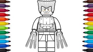 How to draw Lego Wolverine - Marvel Superheroes - coloring pages