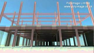 3D CAD -  Animated Building Construction