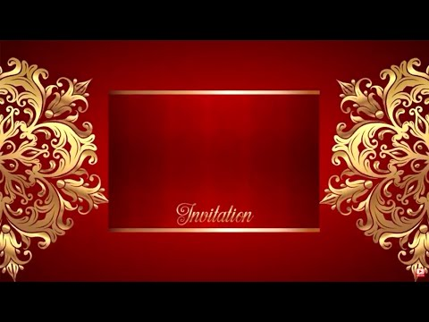 Wedding Intro Video Background Free - Border Gold Text 1080p Full HD 2018