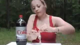 WOW coca cola + mentina+ preservativo!!! INCREDIBILE!!!