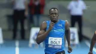 Usain Bolt Breaks 100m Indoor WORLD RECORD Skolimowska Memorial 2014 [HD]