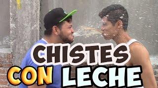 CHISTES CON LECHE | TOMANDO LECHE POR LA NARIZ