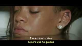 Rihanna  - Stay ft Mikky Ekko ( Lyrics Video Sub Español) Official Video